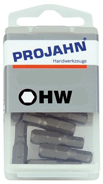 """Projahn 1/4"""" Bit L25 mm Innen-6kant 6 mm 10er Pack"""