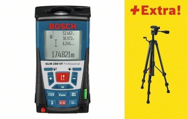 Bosch Laser-Entfernungsmesser GLM250VF + BS150