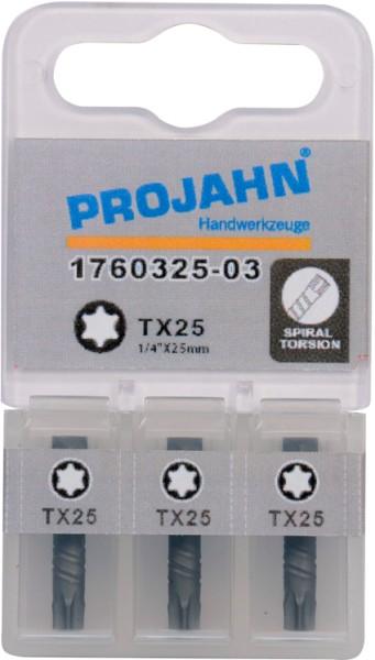"Projahn 1/4"" Torsion-Bit  L25 mm TX40 3er Pack"