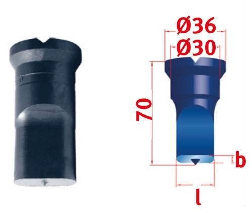 Metallkraft Langlochstempel für Mubea Lochstanzen Langlochstempel Nr.2  13.0 x 25.0 mm