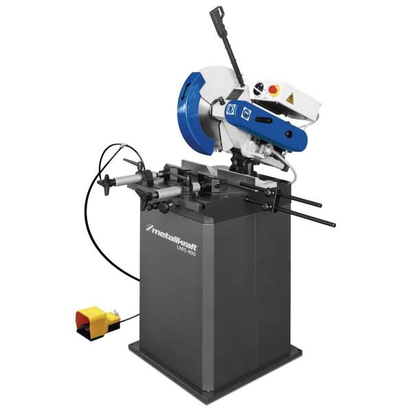 Metallkraft Manuelle Leichtmetallkreissägen im Aktions-Set mit Unterbau und Sägeblatt LMS 400 P Aktions-Set