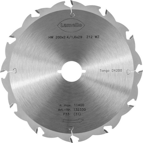 LAMELLO Sägeblatt D200 mm Z12 für Tanga DX200
