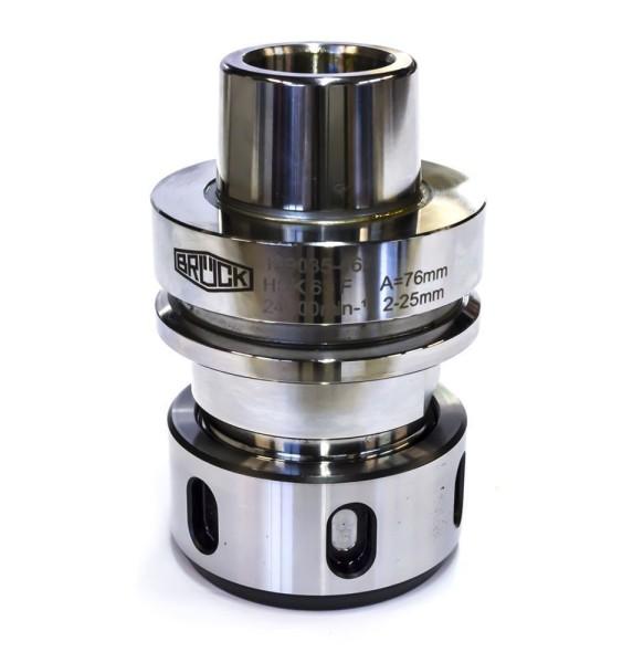 CNC-Spannzangenfutter mit mit Hohlschaftkegel HSK 63 F-A=76 mm für Spannzangen 462E / OZ25,