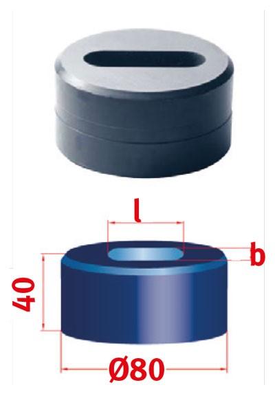 Metallkraft Langlochmatrize für Mubea Lochstanzen Langlochmatrize Nr.80  12.0 x 46.0 mm