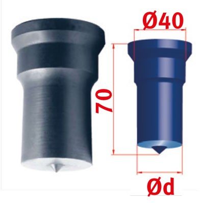 Metallkraft Rundstempel für Mubea Lochstanzen Rundstempel Nr.3 Ø 31.0 mm