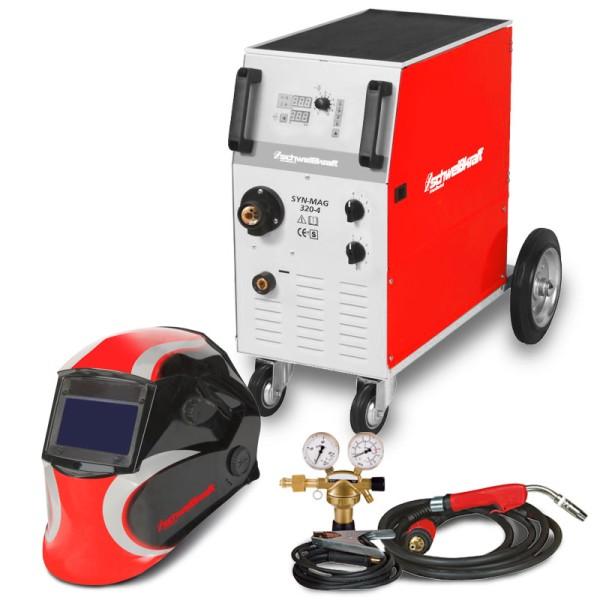 Schweisskraft stufengeschaltete Schutzgasschweißanlage mit Aktions-Set SYN-MAG 320-4 Aktions-SET