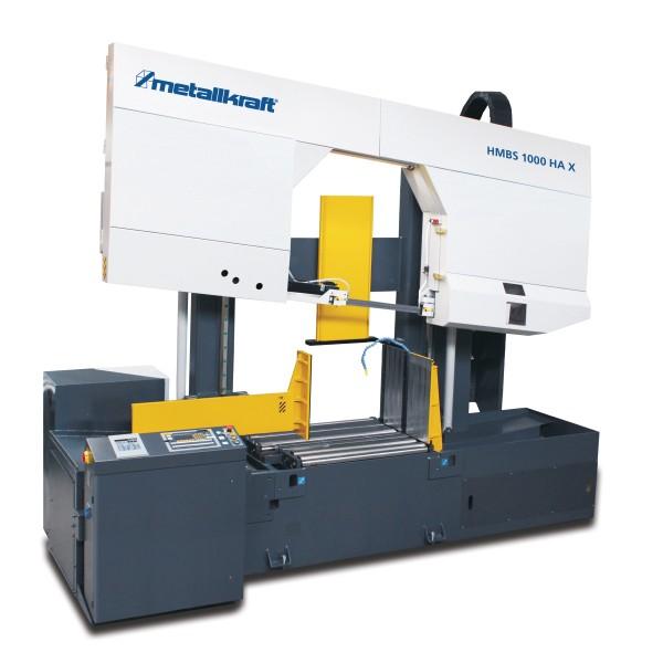 Metallkraft Halbautomatische Zwei-Säulen-Horizontal- Metallbandsäge mit extra hohem Durchlass und ARP-System HMBS 1000 HA X