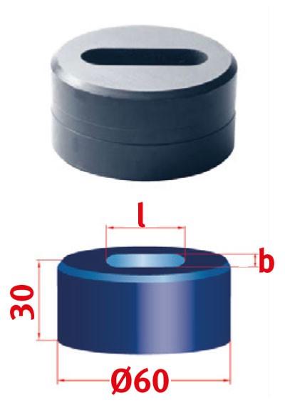 Metallkraft Langlochmatrize für Mubea Lochstanzen Langlochmatrize Nr.60 12.0 x 41.0 mm