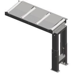 Metallkraft Rollenbahnen 390 mm Rollenbahn 1000 x 390 mm.  200 kg/m