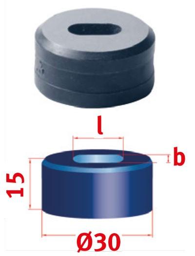 Metallkraft Langlochmatrize für Mubea Lochstanzen Langlochmatrize Nr.30  10.8 x 15.3 mm