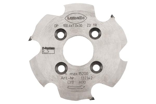 LAMELLO P-System-Nutfräser, DP (Diamant) für CNC 100.4x7x30mm, Z3, NLA 4/6,6/48mm