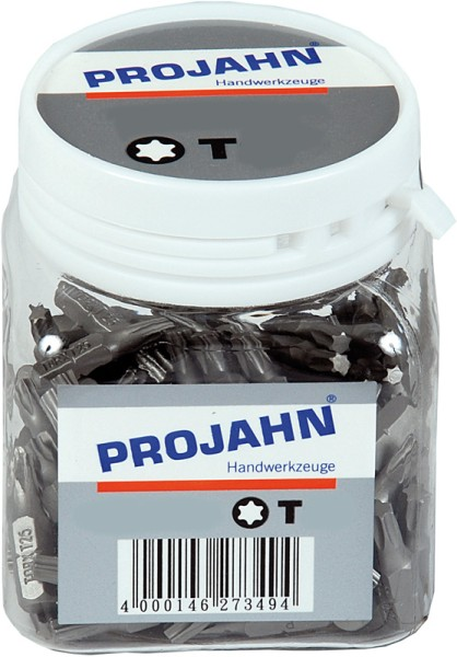 """Projahn 1/4"""" Bit L25 mm TX T10 100er Pack"""