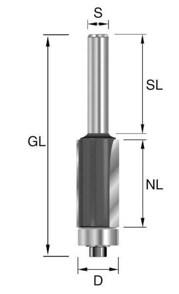 Brück HW-Bündigfräser D19,05, NL19 GL62