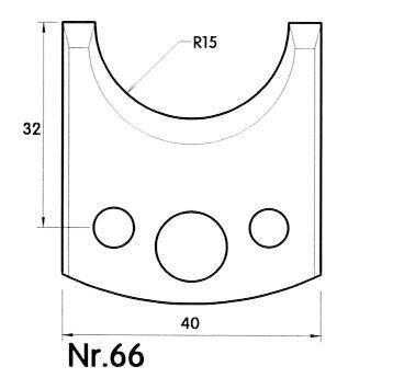 Brück Uni-Profilmesser Nr. 66