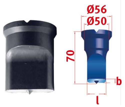 Metallkraft Langlochstempel für Mubea Lochstanzen Langlochstempel Nr.4  13.5 x 50.0 mm