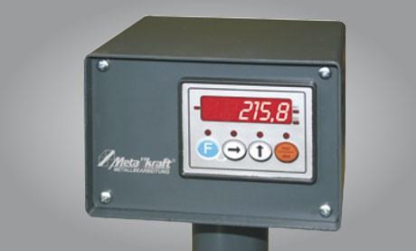 Metallkraft Erweiterung des Rollen- und Messbahnsystems MRB Standard für effektiveres und zeitsparendes Arbeiten Anzeigegerät Z58