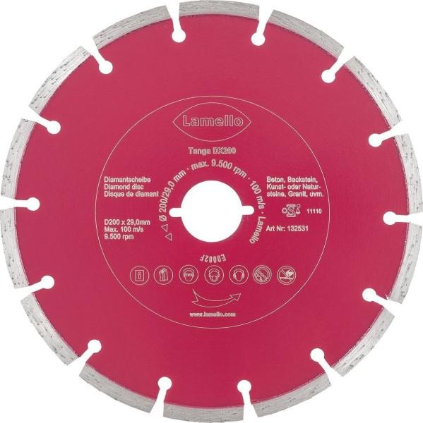 Lamello Diamant-Trennscheibe D200 mm für Tanga DX200