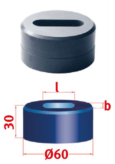 Metallkraft Langlochmatrize für Mubea Lochstanzen Langlochmatrize Nr.60 13.8 x 40.3 mm