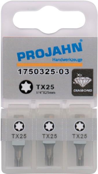 "Projahn 1/4"" Bit Diamantbeschichtet L25 mm TX20"