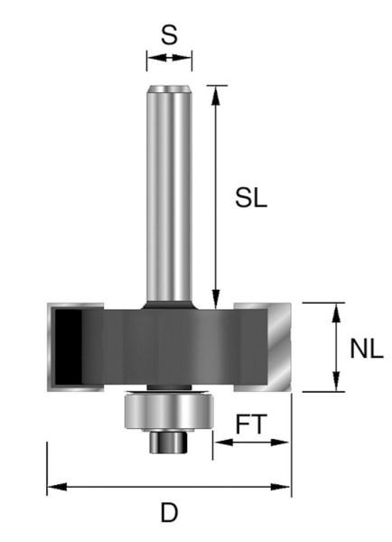 Brück HW-Falzfräser D34,9, NL12,7