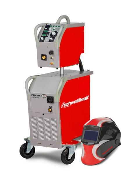 Schweisskraft stufenlose MIG/MAG Schutzgasschweißanlage PRO-ARC SPEED 450-4 WS Aktions-Set