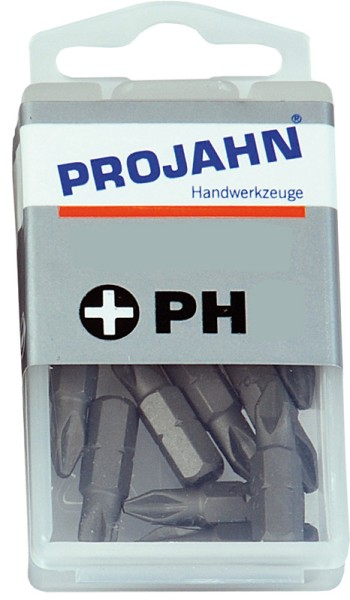 "Projahn 1/4"" Bit L25 mm Phillips Nr 2 10er Pack"