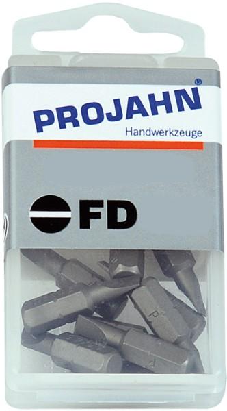 """Projahn 1/4"""" Bit L25 mm Schlitz 6,5 x 1,2 mm 10er Pack"""