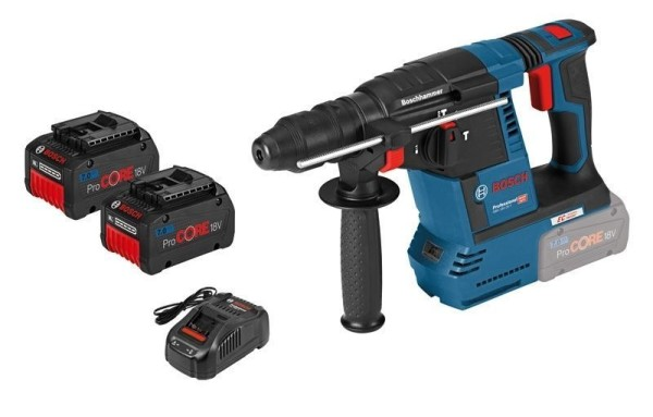 Bosch Akku-Bohrhammer GBH 18V-26 F mit SDS plus, mit ProCORE18V 7,0 Ah Akku, L-BOXX