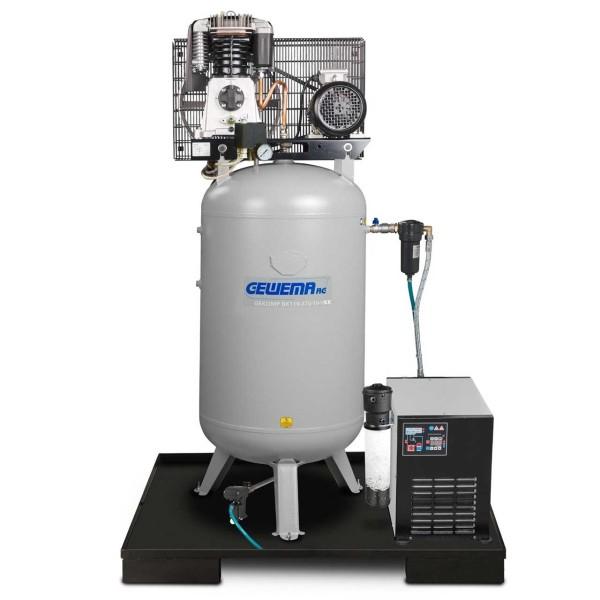 GEWEMA Kolbenkompressor GEKOMP BK119-270-10VKK mit Kältetrockner, Kondensatableiter, Öl-Wassertrenner, Vor-/Feinfilter