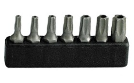 """Projahn 1/4"""" Bit Satz L25 mm TX mit Bohrung T10 - T40 7tlg"""