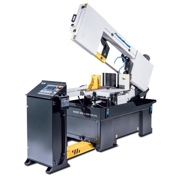 Metallkraft Halbautomatische Schwenkrahmen-Metallbandsäge für Gehrungsschnitte von +60° bis -60° mit Frequenzumrichter BMBS 460 x 600 HA-DG