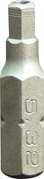 "Projahn 1/4"" Bit L25 mm Innen-6kant mit Bohrung 3 mm"