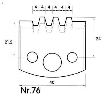 Brück Uni-Profilmesser Nr. 76