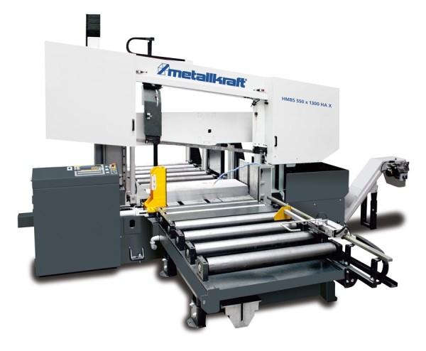 Metallkraft Halbautomatische Zwei-Säulen-Horizontal-Metallbandsäge mit ARP-System HMBS 550 x 1300 X
