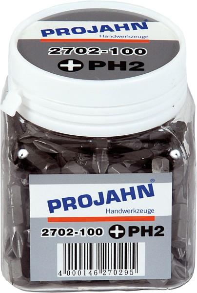 """Projahn 1/4"""" Bit L25 mm Pozidriv Nr 2 100er Pack"""