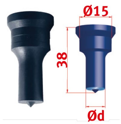 Metallkraft Rundstempel für Mubea Lochstanzen Rundstempel Nr.1 Ø 14.5 mm