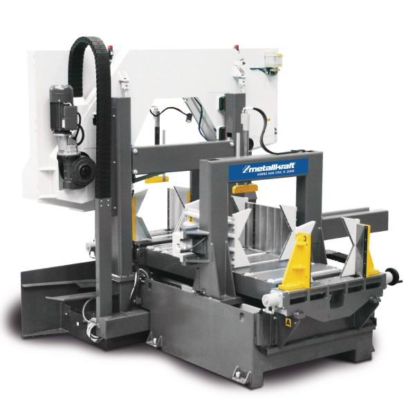 Metallkraft Vollautomatische Zwei-Säulen-Horizontal-Metallbandsäge mit extra hohem Durchlass, ARP-System und 2000/6000 mm Materialvorschub HMBS 600 CNC X 2000