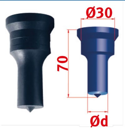 Metallkraft Rundstempel für Mubea Lochstanzen Rundstempel Nr.2 Ø 22.5 mm