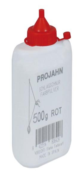 Projahn Farbpulverflasche 500g rot fuer Schlagschnurroller