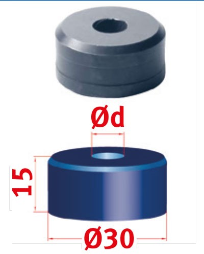 Metallkraft Rundmatrize für Mubea Lochstanzen Rundmatrize Nr.30 Ø 14.7 mm