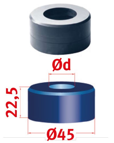 Metallkraft Rundmatrize für Mubea Lochstanzen Rundmatrize Nr.45 Ø 18.7 mm