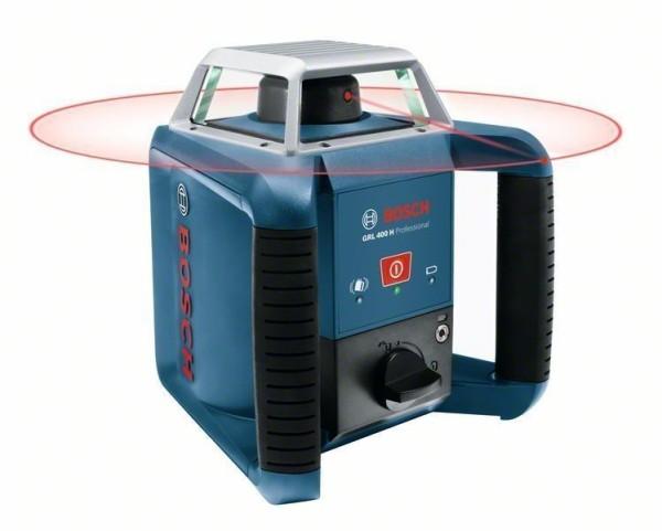 BOSCH Rotationslaser GRL400H im Handwerkerkoffer mit Akku, Zubehör-Set