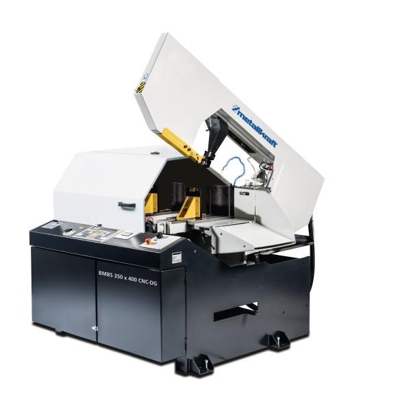 Metallkraft Vollautomatische Schwenkrahmen-Metallbandsäge für Gehrungsschnitte von -45° bis +45° mit Frequenzumrichter BMBS 350 x 400 CNC-DG