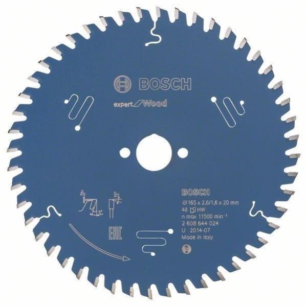 Bosch Sägeblatt Expert for Wood 165 x 2,6/1,6 x 20 mm Z48
