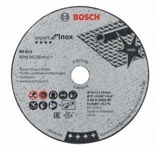 BOSCH Trennscheibe 76x1x10 mm Expert for Inox, 5er-Pack