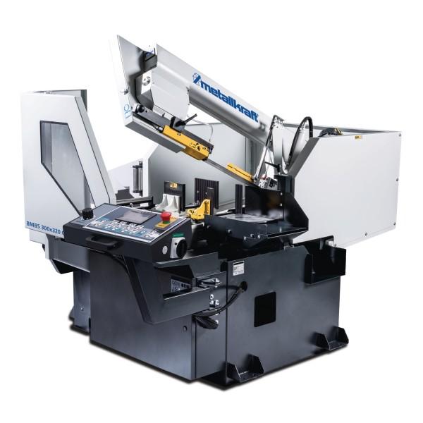 Metallkraft Vollautomatische, CNC-gesteuerte Schwenkrahmen- Metallbandsäge für Gehrungsschnitte bis +60° BMBS 300 x 320 CNC-G