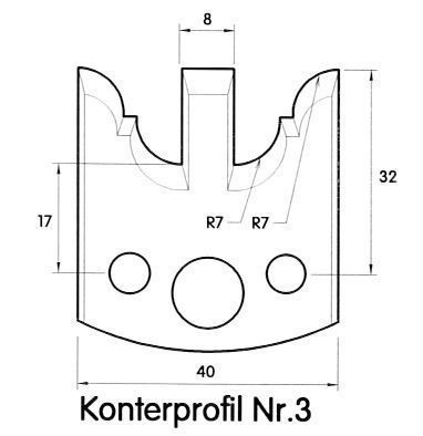 Brück Uni-Profilmesser Nr.3 /98