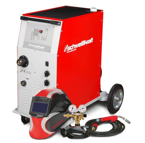 Schweisskraft stufengeschaltete Schutzgasschweißanlage mit Aktions-Set SYN-MAG 350-4 Aktions-Set
