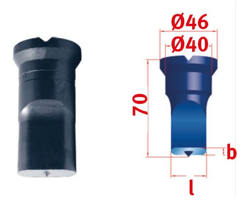 Metallkraft Langlochstempel für Mubea Lochstanzen Langlochstempel Nr.3  13.5 x 35.0 mm