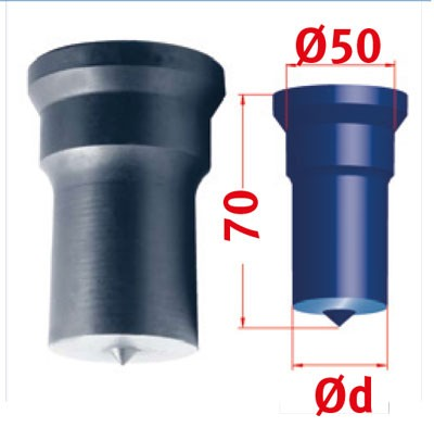 Metallkraft Rundstempel für Mubea Lochstanzen Rundstempel Nr.4 Ø 42 mm